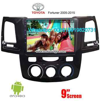 Toyota Fortuner Car audio radio android GPS navigation camera